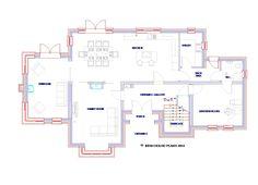 House Extension Ireland, House Designs Ireland, Kitchen Utilities, Ireland Homes, Family House Plans, Ground Floor Plan, House Extensions, My House, Family Room