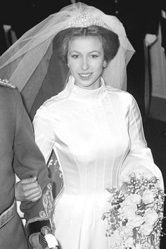 Royalty - Princess Anne and Captain Mark Phillips Wedding - London Royal Wedding Gowns, Royal Weddings, Wedding Dresses, Country Weddings, Vintage Weddings, Lace Weddings, Princess Anne Wedding, Princess Diana, Adele