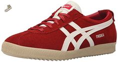 Onitsuka Tiger Mexico Delegation Fashion Sneaker, Red/Slight White, 10 M US - Onitsuka tiger sneakers for women (*Amazon Partner-Link)