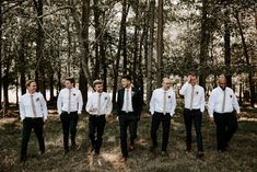 I love this candid shot of the groom and his guys! - Vintage-Inspired North Carolina Wedding at Windy Hill Farm - #groom #groomstyle #weddingdayphotography #Groomideas #weddingflowers #groominspiration #boutonniere #weddingplanning #weddinginspiration #weddingideas #groomsmen #groomtrends #weddingtrends