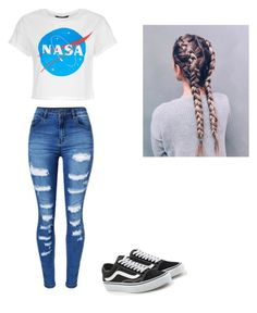 """Untitled #57"" by haileymagana on Polyvore featuring WithChic and Vans"