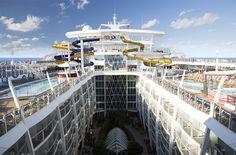 Harmony of the Seas Water Slides.  #royalcaribbean #harmonyoftheseas #getmeonharmony #cruise #ship
