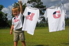 *Random Thoughts of a SUPERMOM!*: Monogrammed Flag Tees