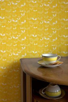 Rart mönster på retrotapeten Miss Print 1009 från www.midbec.se.