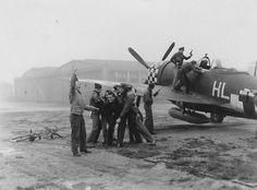 P-47 Pilots, 78th FG, Duxford Air Base, England, 1944