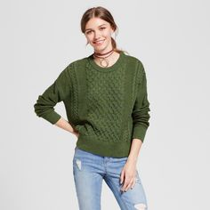 Women's Pullover Sweater - Mossimo Supply Co. Green Xxl