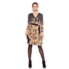 "Very Vollbracht ""Liz Lacquer"" Sequined Wrap Dress at HSN.com."