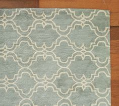 Master Bedroom Rug - Pottery Barn  Scroll Tile Rug - Porcelain Blue | Pottery Barn