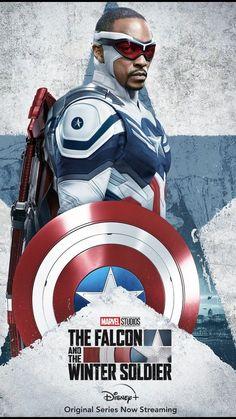 #marvel #captainamerica #thefalconandthewintersoldier #falcaoeosoldadoinvernal #wintersoldier #thefalcon Captain America Poster, Marvel Captain America, Ms Marvel, Marvel Comics, Captain America Costume, Marvel Avengers, Marvel Art, Disney Marvel, Winter Soldier