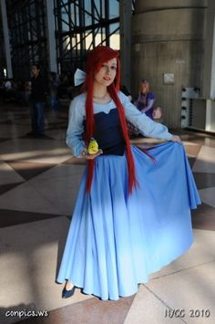 .Ariel without her tail - this makes pretty unique and very cute modest costume