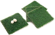 """MEEXPAWS Chicken Bedding Nesting Box Pads Artificial Grass, Sturdy, Washable, Reusable, Easy Clean, 12""""×12"""", 4 Count"""