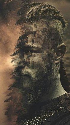Ragnar lothbrok, a legendary Viking King, the fan-favorite Viking warrior . Vikings Show, Vikings Tv Series, Tatto Viking, Viking Tattoos, Deco Cinema, Ragnar Lothbrok Vikings, Ragner Lothbrok, Viking Wallpaper, Witcher Wallpaper