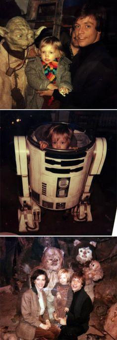 Photos: Mark Hamill's family visits Luke Skywalker at work (1982)