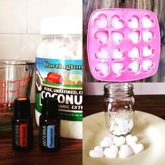 Oil Pulling Oil Bites: mix 6 drops On Guard and 6 drops Peppermint oil with 1/3 cup melted coconut oil..