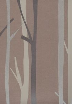 Taupe Tree Wallpaper