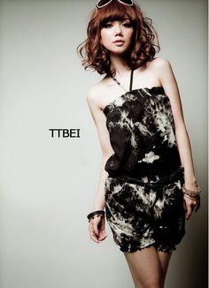 European Fashion Style Graffiti Black Ladies Jumpsuits  Item Code:  JJ81444+Black    US$8.16