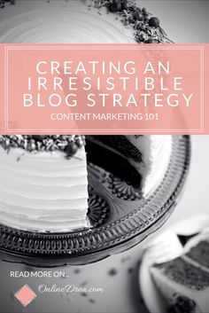 Content Marketing 101 tips for small businesses and creative entrepreneurs looking to start a blog << Online Drea