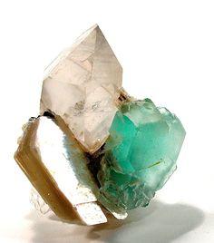 fluorite-quartz-tourmaline.  I want to touch this!!