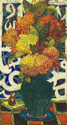 Henry de Waroquier Vase of Chysanthemums (probably his Nabis period) 1912