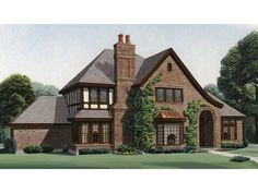 Color schemes that work with brick tudor house paint for French tudor house plans