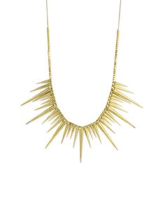 Z Designs Spiked Bib Chain Necklace,