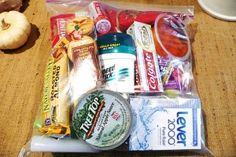 """What a great idea! Make these """"care packages"""" and keep them in your car to give to those in need instead of handing them money, which I never feel comfortable doing."""