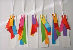 bastelideen mit papier lustige lesezeichen buntpapier