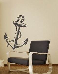 Anchor Decor Wall Decal Nautical Home Beach by HouseHoldWords, $39.00