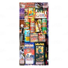 """This large assortment has all the fireworks staples your customers are looking for. Contains fountains, roman candles, multishots, parachutes, artillery shells, firecrackers and more!  Contents: 1 Golden Flower, 4 Ground Bloom Flowers, 2x 8"""" 4th of July Conic, 2x 5 ball Mighty Max Candle, 2 box Snappers, 1 Happy 36 Shots, 1 Garden In Spring 7 Shots, 1 Cloud Dragon, 1 Green Bamboo, 6 Day Parachutes, 1 Blue Star w/reports, 1 No.3 Conic, 1 box Artillery Shells 1.75"""", 1 box Eagle Artillery…"""