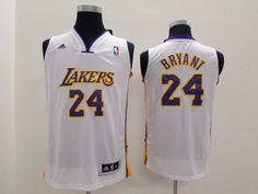 NBA Kobe Bryant youth kids jersey white jerseys