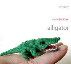 Mini Crocheted Alligator Crochet a fun mini alligator with this amigurumi pattern. Kids will love playing with this adorable little guy. The post Mini Crocheted Alligator was featured on Fun Family Crafts. Knit Or Crochet, Crochet For Kids, Crochet Crafts, Crochet Dolls, Crochet Stitches, Crochet Baby, Crochet Projects, Amigurumi Patterns, Crochet Patterns