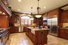 Chef's dream kitchen. #DreamHome  Boy could I ever cook supper in this kitchen!