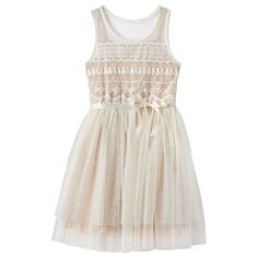 Girls 7-16 Pinky Los Angeles Lace & Mesh Dress