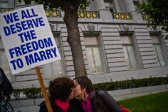 Today a finally justice has been made as the Supreme Court Declares Same-Sex Marriage Legal In All 50 States. Historic!!!A couple kisses during a pro same-sex marriage rally in front of San Francisco's City Hall.