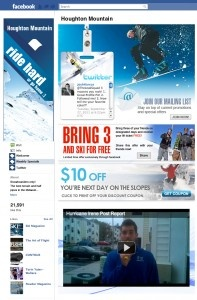 Facebook Application Design for a Ski resort.