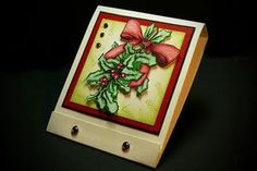 Matchbox candy holder w/tutorial. This will fit one Ghiradelli chocolate squares Post It Note Holders, Treat Holder, Treat Box, Candy Crafts, Christmas Paper Crafts, Back To School Gifts, Very Merry Christmas, Xmas, Craft Show Ideas
