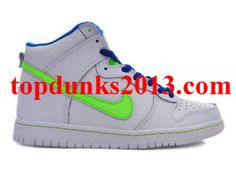 White Electric Green Nike Dunk High Top Internet Sales