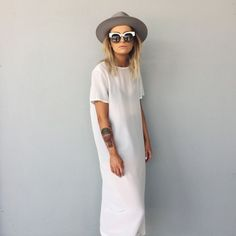 simple white dress for spring