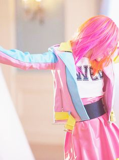 These colors were my second favorite hair combo for her. <3