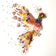 Bridget Beth Collins Botanical artist, painter, writer, nature lover, light seeker. The Seattle-based botanical artist reconstructs the blooms of nature into designs, creatures and scenes from her imagination. Shown is Firebird. https://instagram.com/flora.forager/