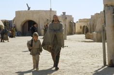 Anakin Skywalker leaving his home on Tatooine with Qui-Gon Jinn to become a Jedi Knight.
