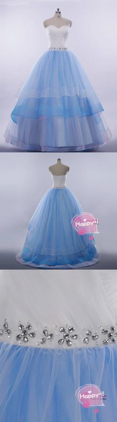 new blue tulle long strapless princess prom gown M0553#prom #promdress #promdresses #longpromdress #promgowns #promgown #2018style #newfashion #newstyles #2018newprom#eveninggowns#bluetullepromdress#princesspromgown
