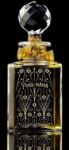 Modern World meets Old World: Grossmith, London's (Baccarat) Phul-nana perfume bottle.