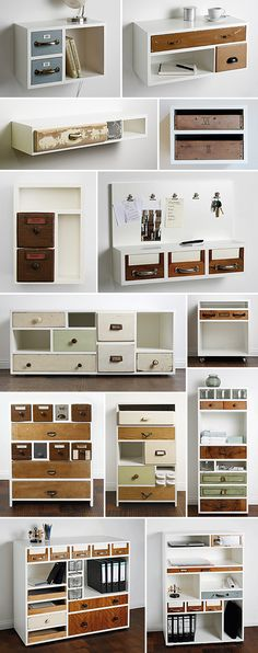 assemble old drawers to make a new dresser