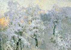 Trees in Wintry Silver, Gorbatov Konstantin Ivanovich. Russian (1876 - 1945)