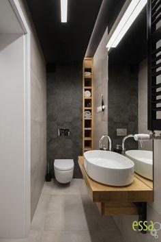#smalbathroomblack #małałazienka #essa#interiordesign#architektwnętrz#ewasłota Wc Design, Toilet, Bathrooms, Bathtub, Standing Bath, Flush Toilet, Bathtubs, Bathroom, Full Bath