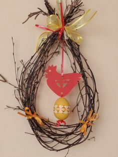 Easter branch Easter Tree, Easter Wreaths, Easter Eggs, Easter Crafts, Fun Crafts, Diy And Crafts, Spring Crafts For Kids, Diy Easter Decorations, Holidays And Events