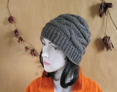 Womens Hat Slouchy Beanie Slouch Hats Oversized by recyclingroom