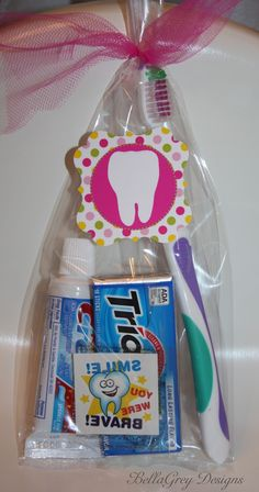 "Use Trident Gum in a ""One Less Tooth"" Inspired party. Trident White looks just like pieces of teeth! Via Jennifer of Bellagrey Designs"