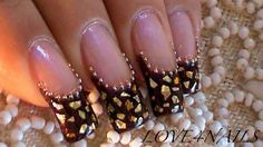 Golden Flakes & Beads  by LOVE4NAILS from Nail Art Gallery